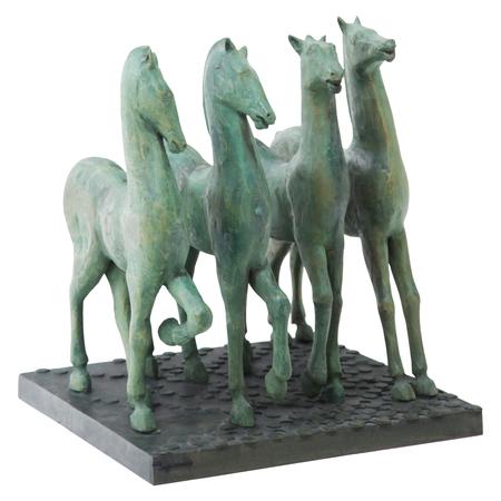 Pferdegruppe sig. Augusto, wohl 1970er Jahre