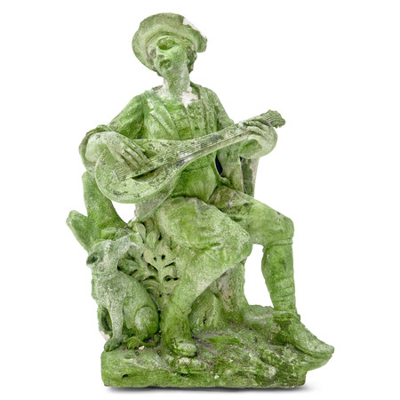 Gartenskulptur Musiker, wohl Italien, 20. Jahrhundert