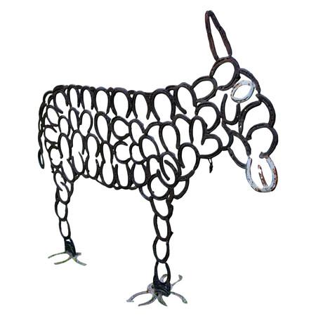 Eisenfigur eines Esels, 20. Jahrhundert