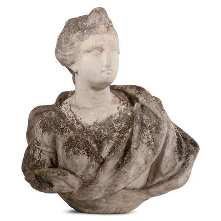 Weibliche Marmorbüste, wohl 17. Jahrhundert