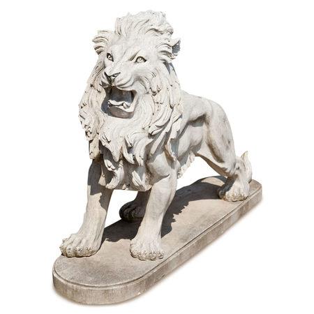 Löwen Skulptur aus Marmor, 21. Jhd.