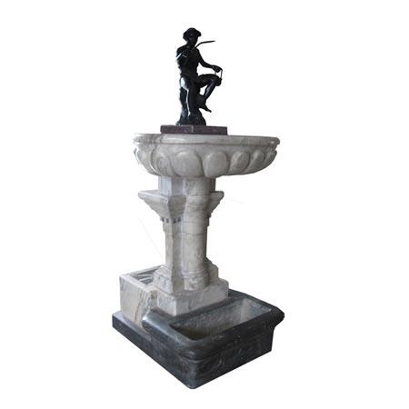 Tischbrunnen mit Antikenkopie ca. 1820