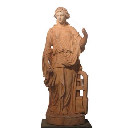 Weibliche Terracotta Statue von Louis Gossin, Frankreich