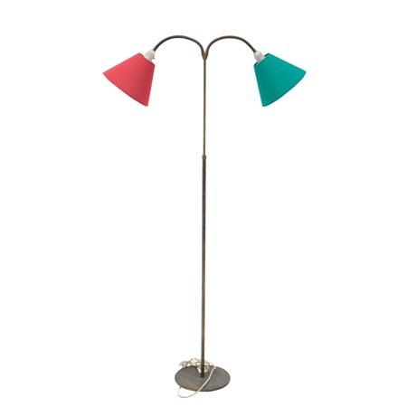 Stehlampe mit farbigen Schirmen, Mitte 20. Jhd.