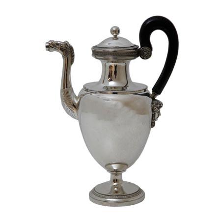 Silberne Kaffee Kanne, Belgien ca. 1814-1831