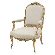 Sessel, Napoleon III, Frankreich, 2. Hälfte 19. Jhd.