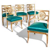 Klassizistische Stühle, wohl Berlin 1. H. 19. Jahrhundert