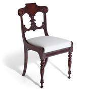 Spätbiedermeier Stuhl, Norddeutsch um 1840