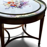 Tisch mit feiner KPM Porzellantischplatte