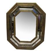 Spiegel mit altem Glas, 19./.20. Jhd.