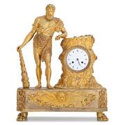 Empire Pendule mit Herkules, Paris um 1810/15