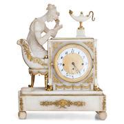 Alabaster Pendule 'Die Lesende', Wien dat. 1825