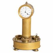 Schreibtischgarnitur mit Uhr, Frankreich um 1925