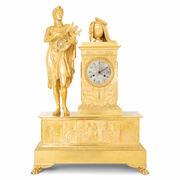 Monumentale Pendule, Orpheus und Eurydike, Frankreich um 1815