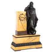 Bronze Pendule, Restaurationszeit Frankreich, Werk datiert 1827