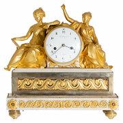 """Pendule """"Beim Studium der Gesetzestafel"""", Frankreich, Paris um 1770/80"""