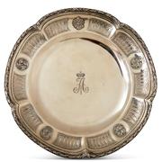 Silberteller für die russische Königsfamilie von J.-B. Odiot, Paris 1798