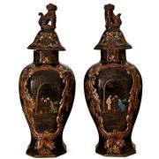 Chinoiserie Vasen, Berlin um 1840