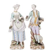 Meissen Porzellanfiguren Modell von Leuteritz, 1. H. 19. Jahrhundert
