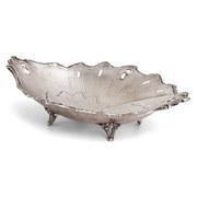 Silberne Schale mit Blattdekor