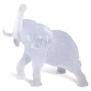 Glasskulptur eines Elefanten von Jean-François Leroy für Daum France