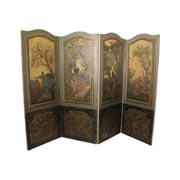 Bemalter Wandschirm mit galanten Szenen