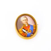 Brosche mit Miniatur des Duke of Wellington, England, 19. Jh.