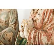 Asiatische 'Arhats'-Skulpturen, wohl 19. Jhd.