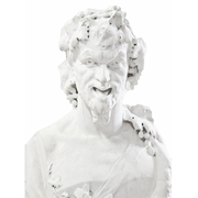 Italienische Marmorherme des Pan, Mitte 19. Jahrhundert