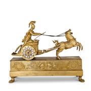 Streitwagen Pendule, Frankreich, Anfang 19. Jahrhundert
