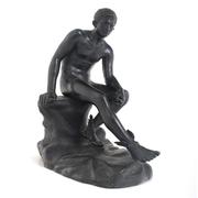'Ruhender Hermes' des Lysippos, Neapel, 2. Hälfte 19. Jahrhundert Bronze