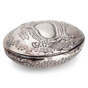 Ovale Silberdose, wohl Ende 18. Jahrhundert