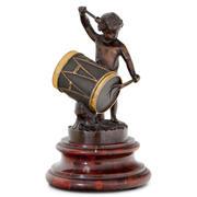 Bronze eines Trommlers, 2. Hälfte 19. Jahrhundert