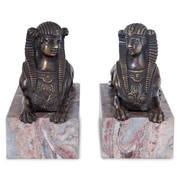 Bronze Sphingen, Frankreich 19. Jahrhundert