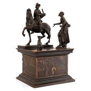 Bronzegruppe Hl. Martin mit Bettler und Hund, Norditalien 17. Jahrhundert