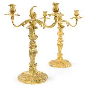 Louis Quinze Kerzenleuchter, Frankreich Mitte 18. Jahrhundert
