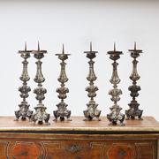 Versilberte Altarleuchter, Italien 18. Jahrhundert