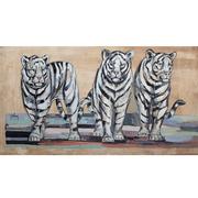 Gemälde von Marta Johan Milossis - Trois Tigres blancs