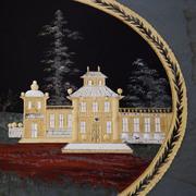 Verre églomisé Gemälde, Russland Ende 18. Jahrhundert