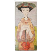 Gemälde Frau mit Hut, sig. R. Coneri, 20. Jahrhundert
