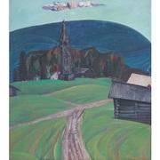 Nicolai Kormashov (1929 - 2012) Russische Landschaft, dat. 1968