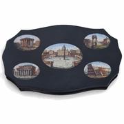 Mikromosaik mit Ansichten Roms, Italien wohl 19. Jahrhundert