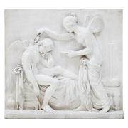 Marmorrelief, Amor und Psyche, um 1820