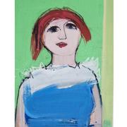 Josef Steiner (1899-1977), Expressionistisches Mädchenbildnis, um 1968,