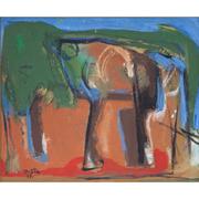 Josef Steiner (1899-1977), Im Wald, dat. 1957
