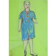 Josef Steiner (1899-1977), Frau im blauen Kleid, um 1955