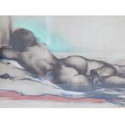 Josef Steiner (1899-1977), Liegender Frauenakt auf Diwan, 1944