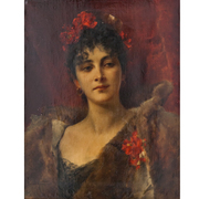 Conrad Kiesel (1846-1921), Jugendstil Dame, Ende 19. Jahrhundert
