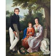 Josef Weidner (1801-1871), Biedermeier Portrait, 19. Jahrhundert