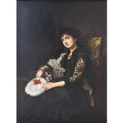 Portrait einer jungen Dame, Ende 19. Jahrhundert